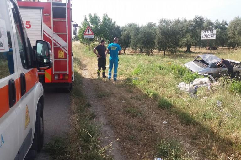 incidente stradale sulla sp n. 1, ex sp 231