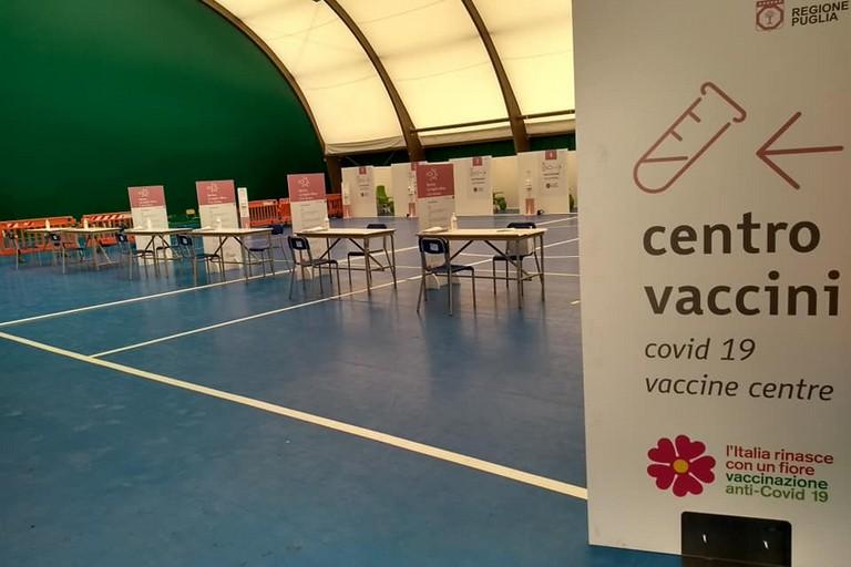 centro vaccinale di Andria San Valentino