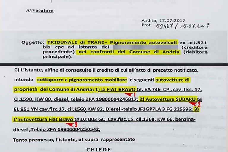 """Coratella (M5S): """"Pignorate tre auto del Comune. Vergogna!"""""""