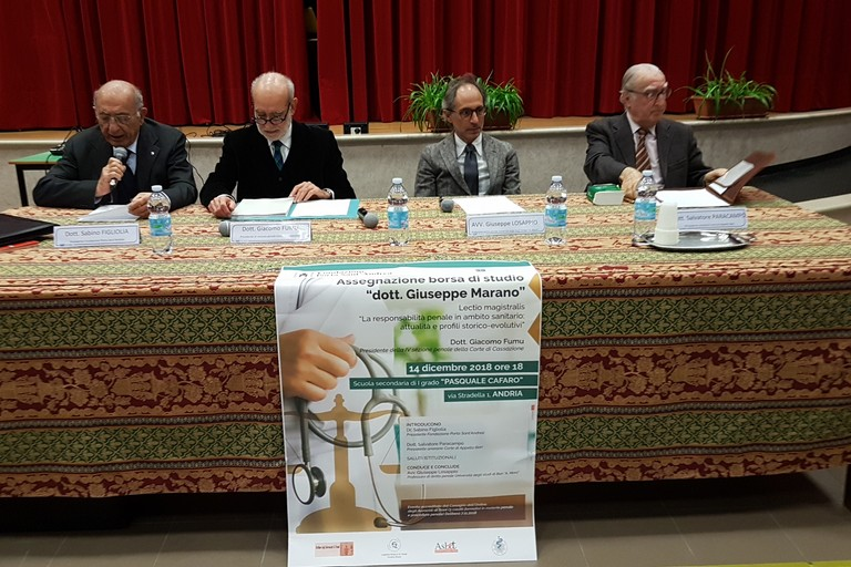 Convegno con il Dott. Giacomo Fumu e l'avv. Giuseppe Losappio