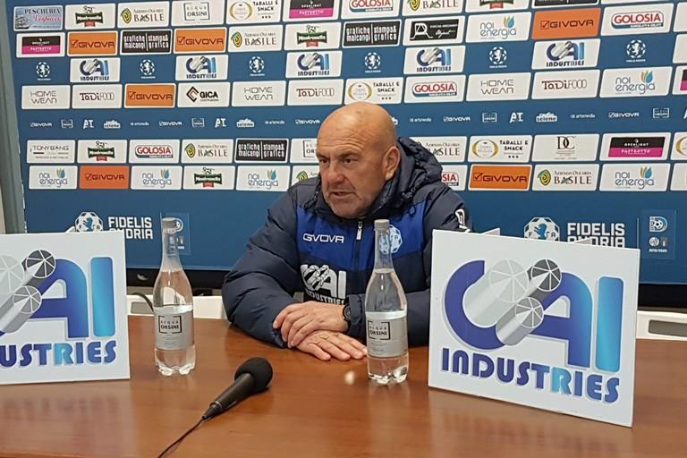 Giancarlo Favarin, tecnico Fidelis Andria