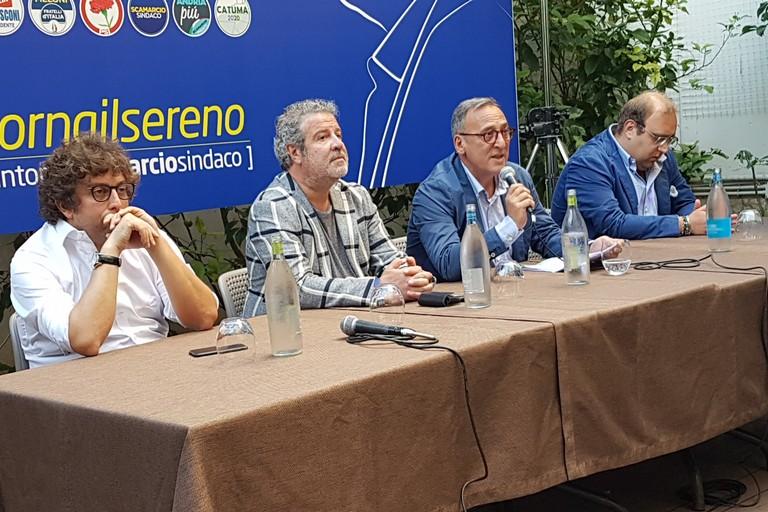 Conferenza stampa di presentazione del candidato sindaco Antonio Scamarcio. <span>Foto Antonio D'Oria</span>