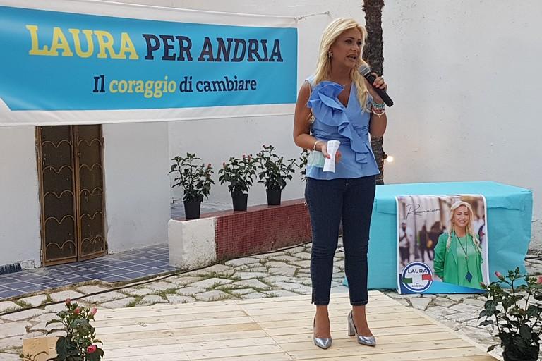 Laura Di Pilato si presenta alla città di Andria. <span>Foto Antonio D'Oria</span>