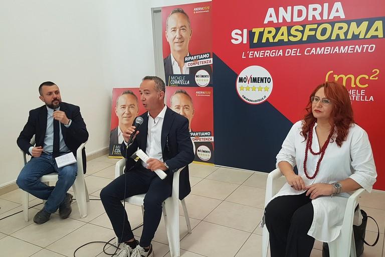 Presentazione del candidato sindaco del Movimento 5 Stelle, Michele Coratella. <span>Foto Antonio D'Oria</span>