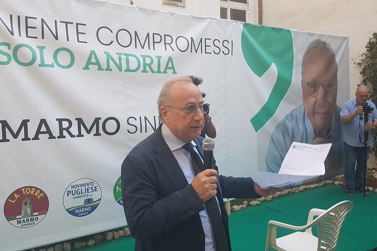 Nino Marmo avvia la sua campagna elettorale. <span>Foto Antonio D'Oria</span>