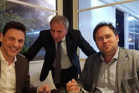 da sx Caroppo, Biancofiore e Campana della Lega Salvini Premier