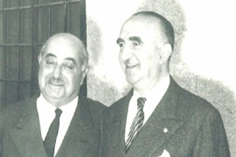 da sx il sen. Onofrio Jannuzzi con il dottor Giuseppe Marano. <span>Foto Fondazione Porta di Sant'Andrea</span>
