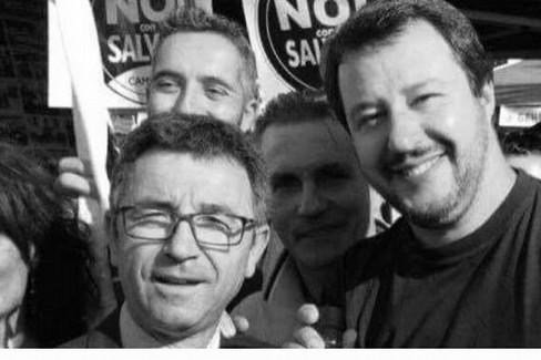 Benedetto Miscioscia con Matteo Salvini