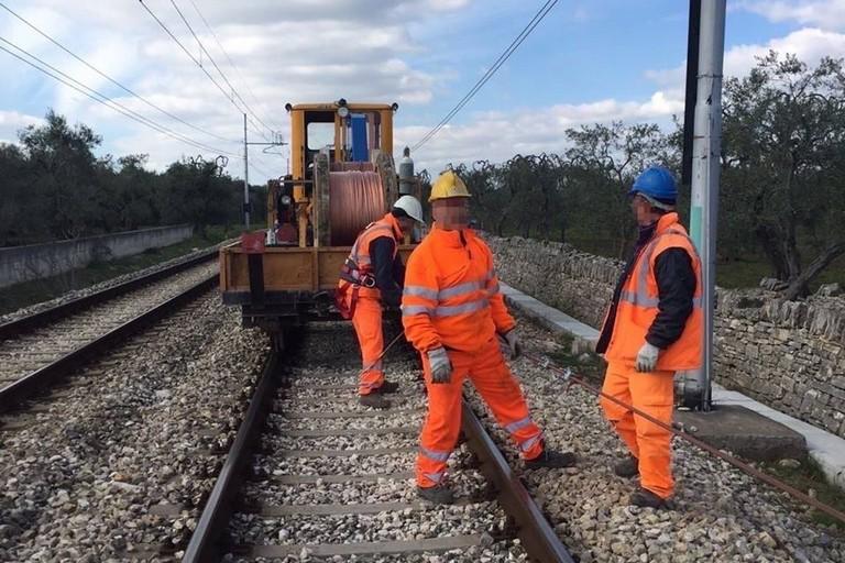 lavori sulla linea della Ferrotramviaria