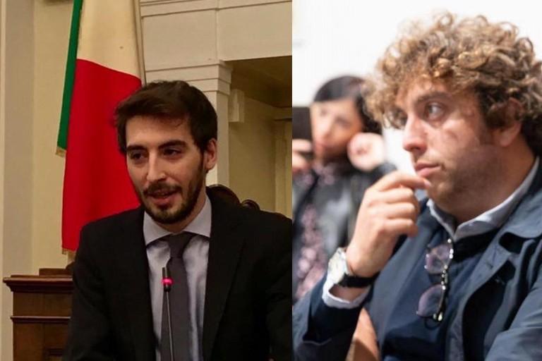 Gaetano Scamarcio (da sx) e Luigi De Mucci