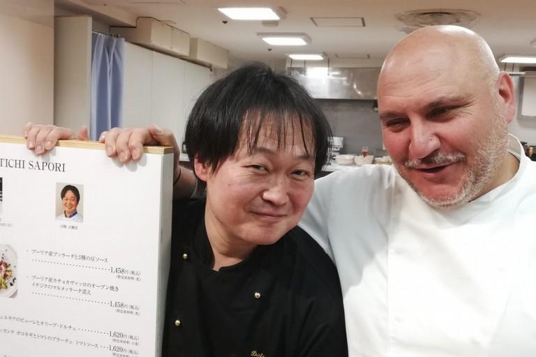 Pietro Zito con un collega giapponese