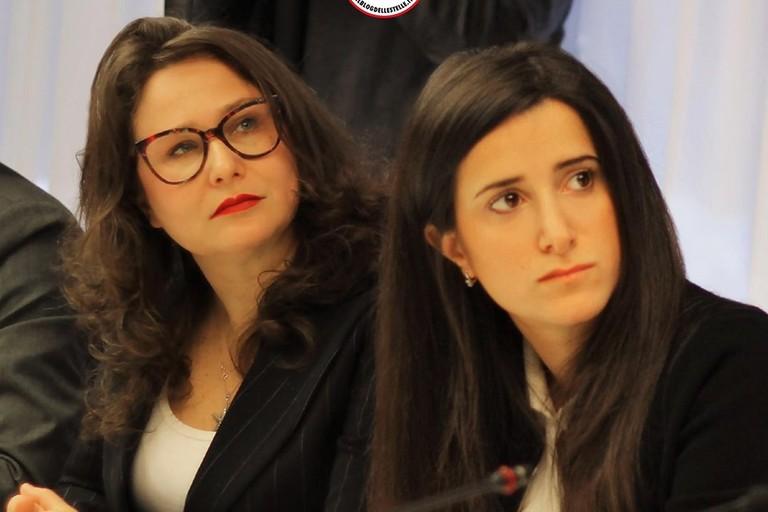 Grazia Di Bari (a sx) con Antonella Laricchia