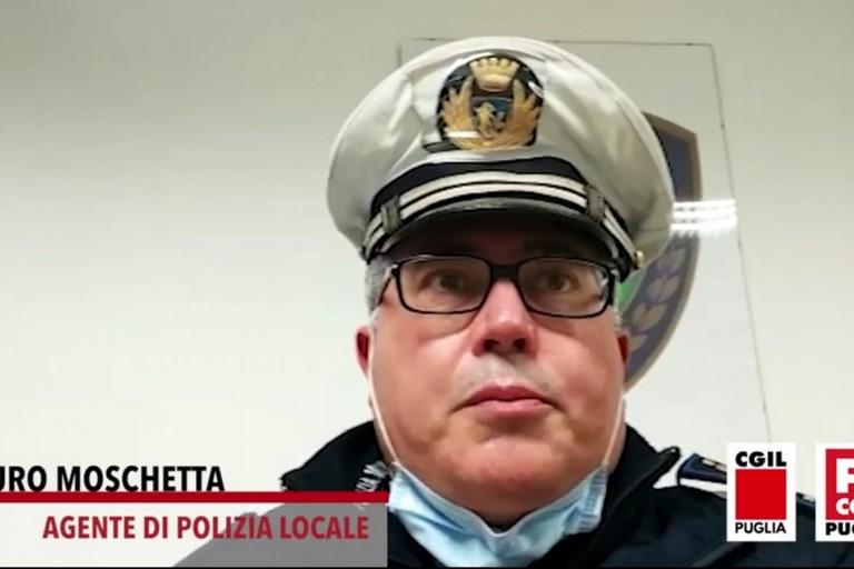 Maresciallo Mauro Moschetta della Polizia Locale di Andria