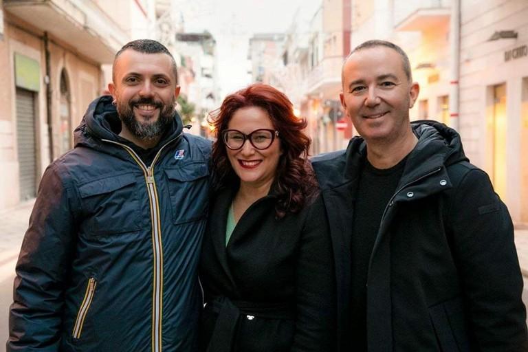 da sx Giuseppe D'Ambrioso, Grazia Di Bari e Michele Coratella