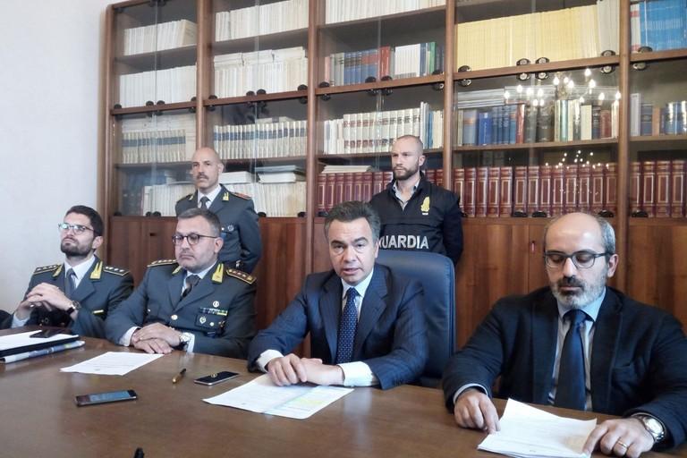 Conferenza stampa Guardia di Finanza