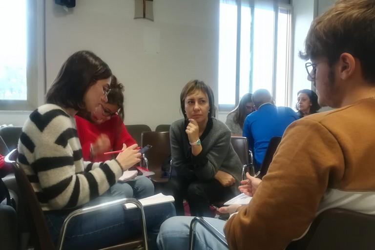 alunni e docenti dell'Istituto Tecnico Economico Carafa