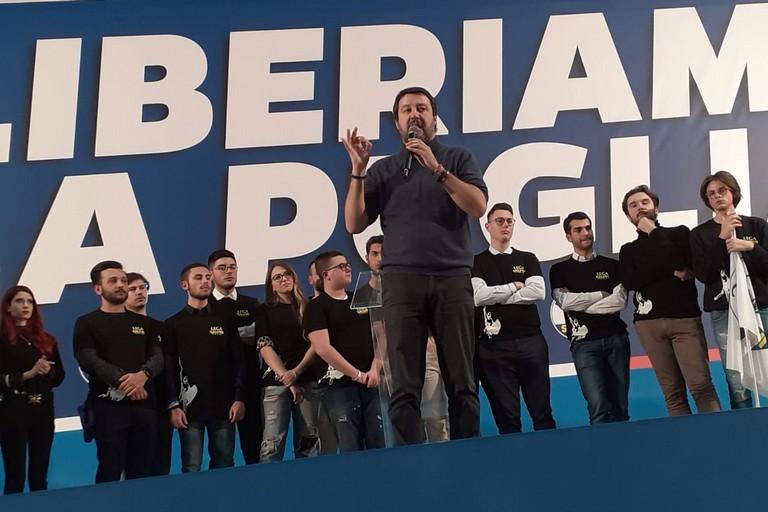 Mattero Salvini a Bari