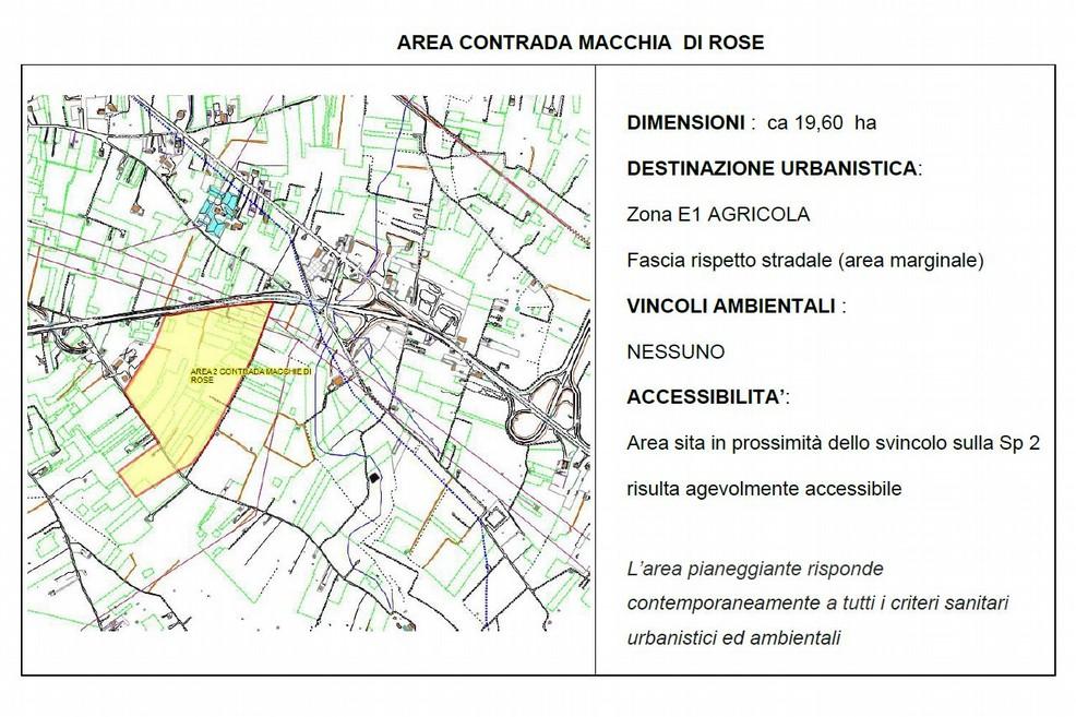 area del nuovo ospedale