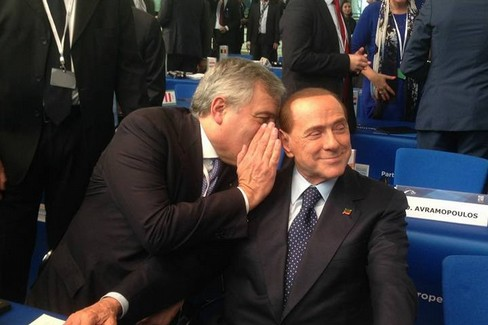 Tajani con Berlusconi