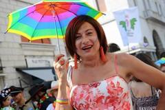 Vladimir Luxuria ad Andria con la candidata sindaca Laura Di Pilato