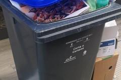 Ancora disservizi per la raccolta rifiuti: bidone stracolmo in bella mostra tra via Bonomo e corso Cavour