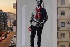 """Un nuovo murale di Daniele Geniale per celebrare il 25 Aprile: """"Memoria è libertà. Al partigiano Malerba"""""""