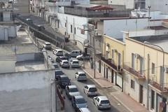 Viale Puglia, incrocio con semafori spenti e tremendi ingorghi