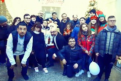 Casa di Babbo Natale: Uccio De Santis incontra il Centro Zenith