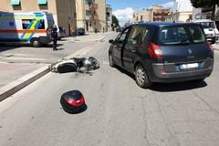 Incidente stradale su viale Virgilio: ferito motociclista 48enne