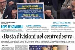 """Giorgino si appella all'unità del centrodestra per le regionali, De Mucci (FI Bat): """"Siamo alle comiche"""""""