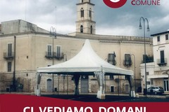 """Causa maltempo, rinviato a domani l'avvio della manifestazione """"Andria Bene in Comune"""""""