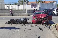 """Incidente stradale su via Canosa: grave motociclista ricoverato al """"Bonomo"""""""