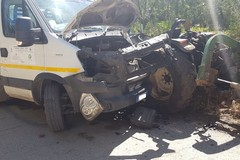 Grave incidente stradale in contrada Montefaraone: ferito giovane trattorista