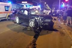 Sette feriti per un incidente stradale su via Trani, accaduto dopo la mezzanotte