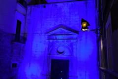 Per il compleanno del Rotary illuminata ad Andria la chiesa di Santa Maria di Porta Santa