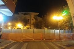 Chiusa totalmente al traffico via Pisani per la caduta del balcone pericolante del crollo del 17 ottobre