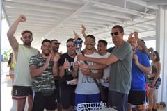 Premiazione dei vincitori del beach rugby al Lido Mattinelle di Trani