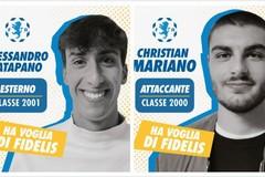 Fidelis, due nuovi arrivi under: l'esterno Catapano e l'attaccante Mariano