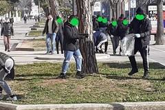 """Gli studenti dell' """"Industriale"""" puliscono le strade per un'azione di Cleanup"""