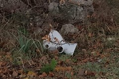 Materiale sanitario abbandonato tra la vegetazione del Parco Nazionale dell'Alta Murgia