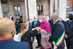 La sindaca Bruno e l'assessora Di Bari ad Avezzano per Mons. Massaro