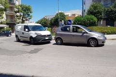 Donna investita alla rotatoria di via Verdi con via Bisceglie. Intervento della Polizia Locale