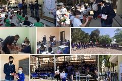 I poliziotti del Commissariato di Andria consegnano le agende agli alunni