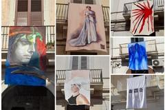 """""""L'arte nel vento"""": mostra diffusa sui balconi di via Regina Margherita"""
