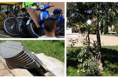 Dieci bici elettriche sequestrate tra la villa comunale ed il monumento di Caduti