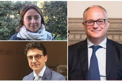 Manifestazione del Pd con il Ministro Gualtieri e la candidata sindaco Giovanna Bruno ed il candidato consigliere Giovanni Vurchio