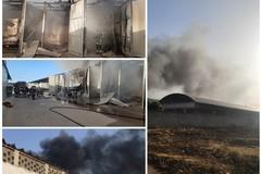 Grosso incendio in via Ospedaletto, all'interno di un'autorimessa