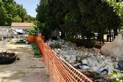 """Crollo muro villa comunale, Sindaco Bruno: """"Qualche buona stella ci ha guardato pure oggi"""""""