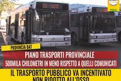 """Bat, piano trasporti provinciale. Di Bari (M5S): """"500 mila km in meno rispetto a quelli comunicati in Regione. Come mai?"""""""