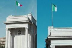 Monumento ai Caduti: sostituito il cencio con il Tricolore